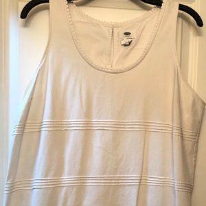 Old Navy White Sleeveless Dress